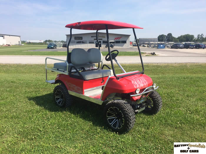 2000 Club Car DS Gas Golf Car RED W/ FLAMES $6495