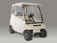 Golf car enclosures in many styles and colors.