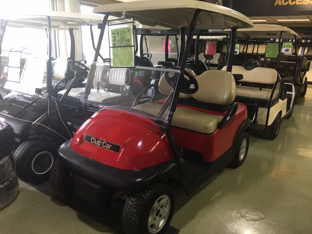 Red Electric Golf Cart 2010 Club Car Precedent for sale $3995