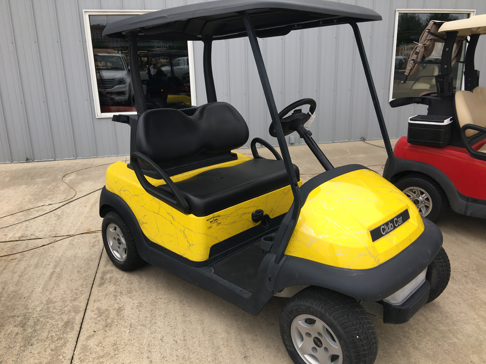 Yellow Marble Golf Cart 2011 Club Car Precedent for sale $4995