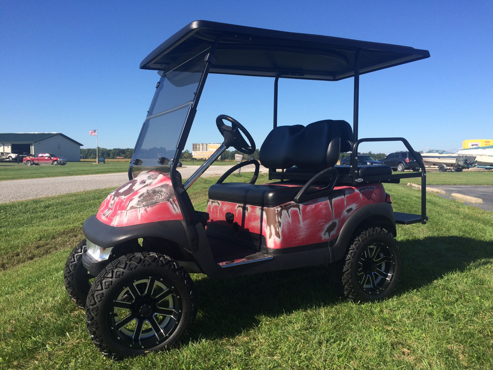 2007 Red Patina Custom Club Car Precedent Electric Golf Cart for sale $6995