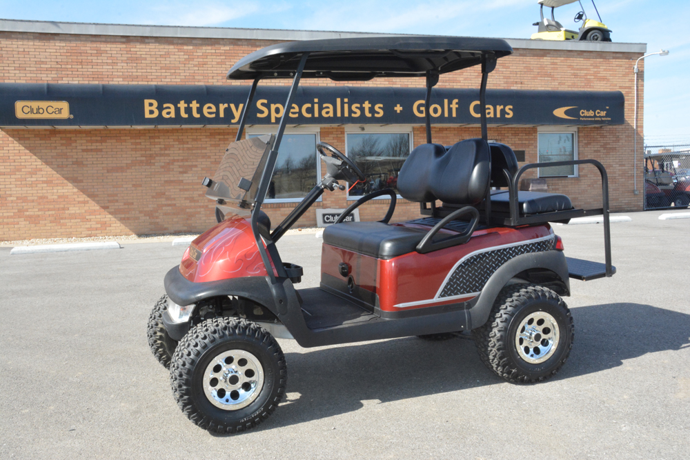 2008 tobago spice with diamond plate club car precedent electric golf cart 5750
